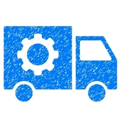 Gear Tools Delivery Car Grainy Texture Icon vector