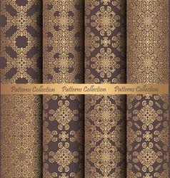 golden patterns weave vintage design vector image