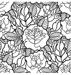 graphic floral pattern vector image