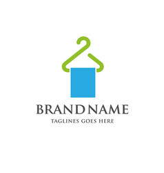 Hanger and cloth line logo vector