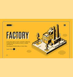 heavy industry factory isometric website vector image