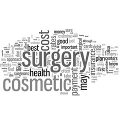 How to pay for your cosmetic surgery vector