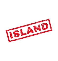 Island Rubber Stamp vector