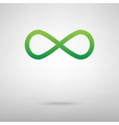 Limitless symbol Green icon vector
