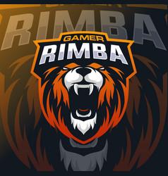lion mascot logo esport vector image