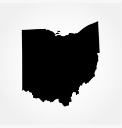 map of the us state of ohio vector image