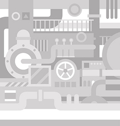 Mechanical industrial background vector image