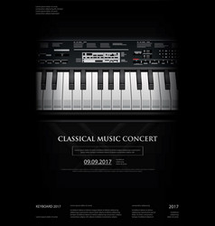 music grand piano poster vector image