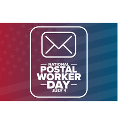 national postal worker day july 1 holiday vector image
