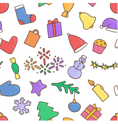 new year seamless pattern background christmas vector image
