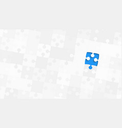 One blue piece grey puzzles - jigsaw vector