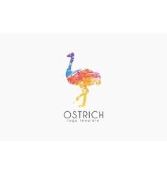 Ostrich logo design Creative logo Bird logo vector image