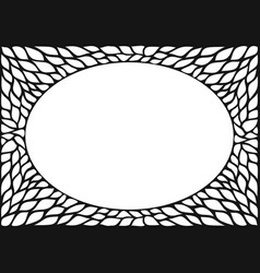 oval frame with natural texture vector image