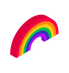 rainbow isometric icon on white background vector image