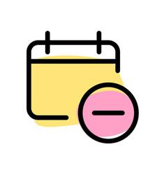 Remove event and agenda from calendar organizer vector