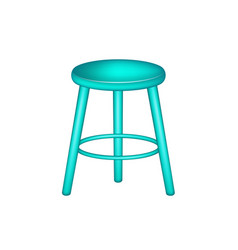 retro stool in turquoise design vector image