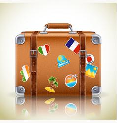 retro suitcase icon vector image