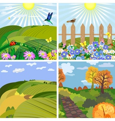 Seasonal landscape vector