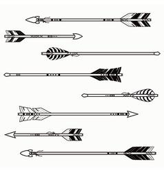 Set ethnic arrows vector
