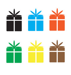 set gift box on white background vector image