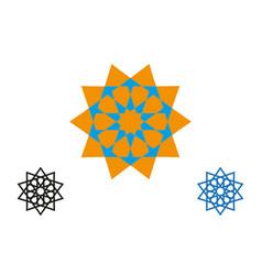 Set logo design templates arabic symbols vector
