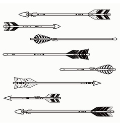 Set of ethnic arrows vector