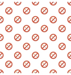 Smoking is prohibited pattern cartoon style vector image