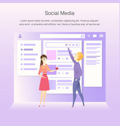 social network interface wireframe develop process vector image