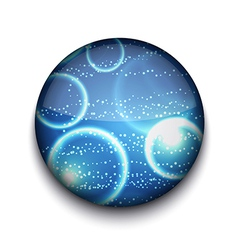 Sparkle Bubbles App Icon vector image