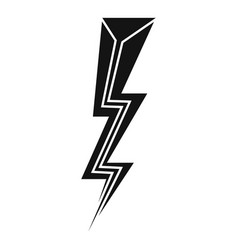 Strike lightning bolt icon simple style vector