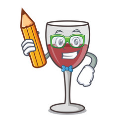 Student wine character cartoon style vector