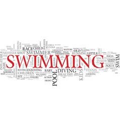 Swim word cloud concept vector
