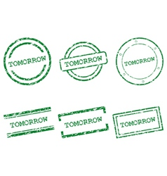 Tomorrow stamps vector