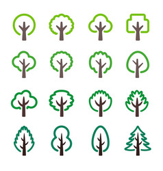 Tree line icon vector