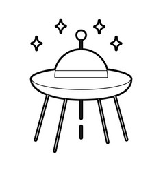 Ufo flying isolated icon vector