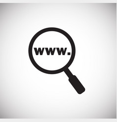 web search magnifier on white background vector image