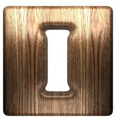 wooden figure i vector image