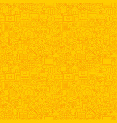 yellow line contact us seamless pattern vector image