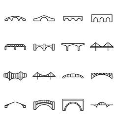 Bridge icons vector