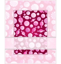 Card with candy pattern vector image vector image
