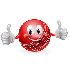 cricket ball man vector image vector image