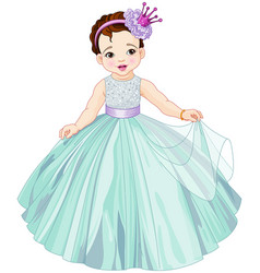 cute little princess vector image vector image