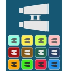 Binoculars flat icon Single icon vector image