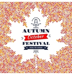 Fall festival card banner poster background maple vector
