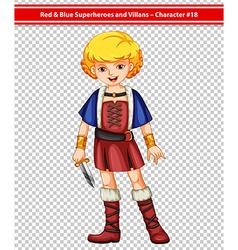 Female warrior vector image