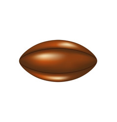 retro rugby ball in leather design vector image
