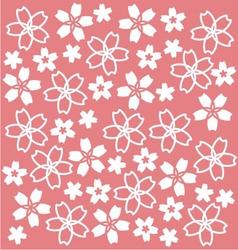 Sakura Pattern vector image vector image