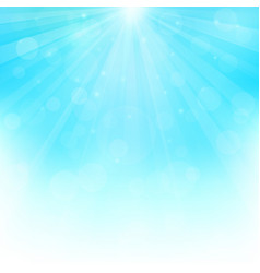 sunny background with bokeh lights vector image