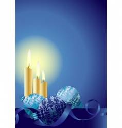 Christmas candles ornaments vector image