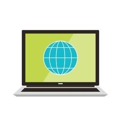 Flat design poster internet vector image